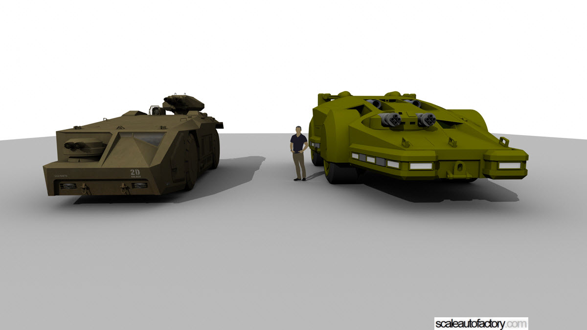 scaleautofactory com { M577 APC from the Alien Movie printed with